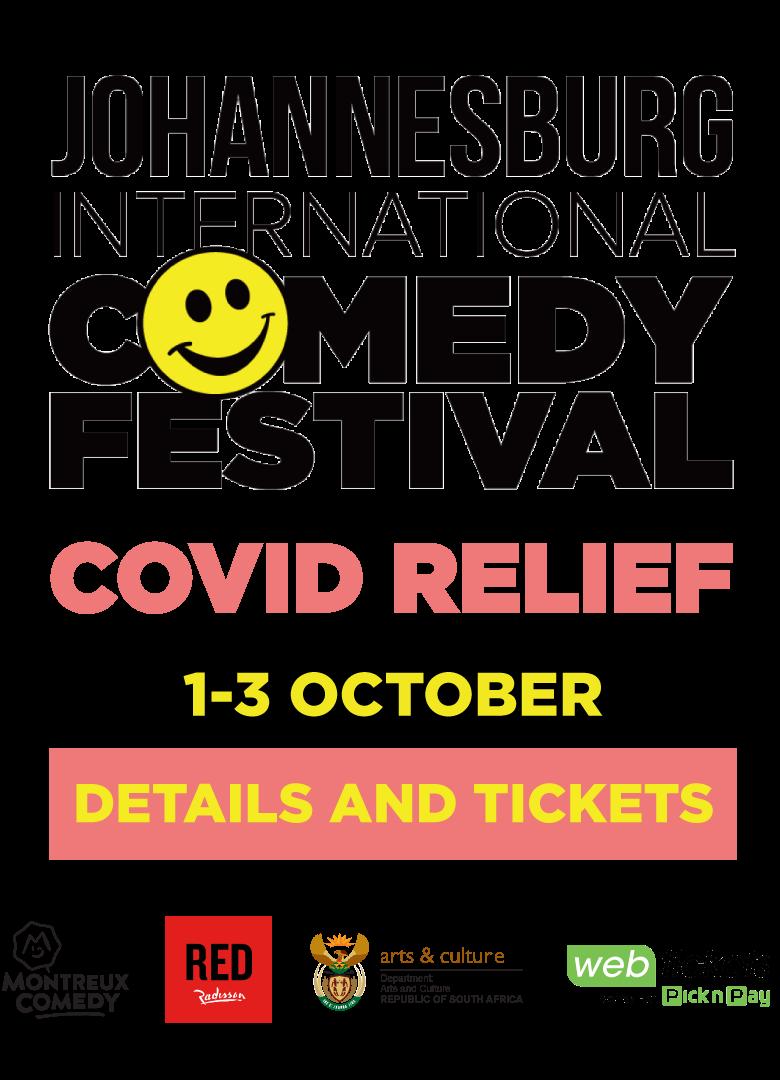 Johannesburg International Comedy Festival Covid Relief #jicf